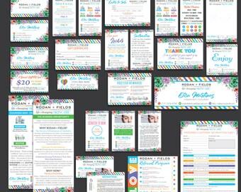 SALE! FULL Rodan and Fields Marketing Kit, Rodan + Fields Marketing Bundle, R and F Marketing Package, PERSONALIZED Rodan Fields Cards, RF08
