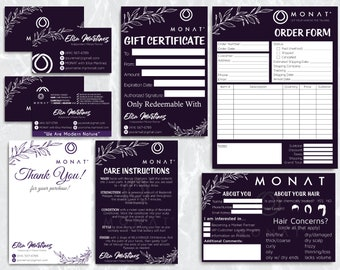 Monat Marketing Kit, Monat Bundle, Monat Cards, Custom Monat Hair Care, Monat Global Marketing, Printable Card MN28