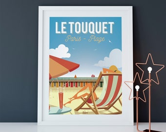 "Poster of Le Touquet ""Le Touquet relaxation"""