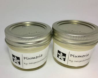 Plumeria Scented Candles, Plumeria Soy Candles, Plumeria, Candles