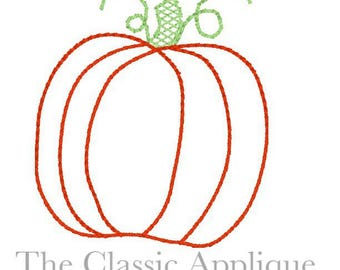 Pumpkin vintage style stitch machine embroidery design 2 and a half inch mini size