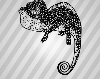 Lizard Silhouette - Dxf, Svg, Eps, Rld, Rdworks, Pdf, Png And Ai Print Files, Digital Cut, Vector File, Svg File