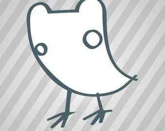 Bird Silhouette - Dxf, Svg, Eps, Rld, RDWorks, Pdf, Png and AI Print Files, Digital Cut, Vector File, Svg File