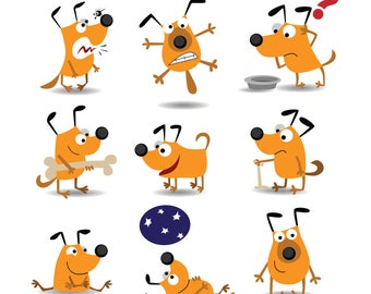 Funny dog Svg/Eps/Png/Jpg/Cliparts,Printable, Silhouette and Cricut File !!!