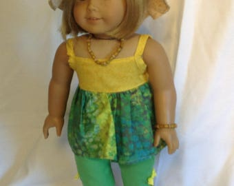 18 inch dolls like American Girl & Maplelea Capris and cami