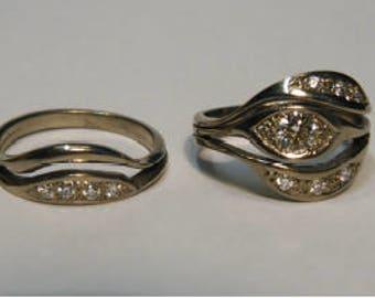 Vintage Tiffany's Diamonds in New Zealand Artisan 18k White Gold Bands