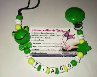 """Personalized pacifier """"frog"""""""