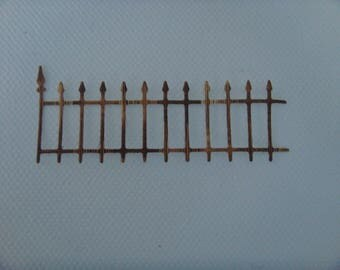 Cut fence wrought iron faux Wicker for scrapbooking and card paper