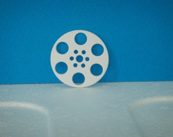 Cutting reel white film for scrapbooking and card