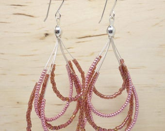 Earrings beads Miyuki