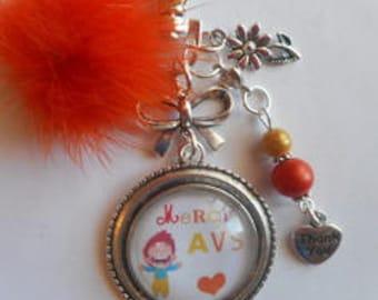"Bag charm, door keys/AVS / ""AVS thank you"" / year end gift / birthday/Christmas/thanks"