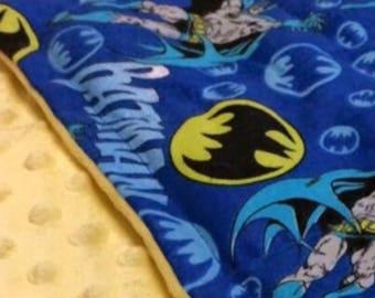 Free shipping !!!Batman Rope cotton fabric (yellow backing) 35X40.