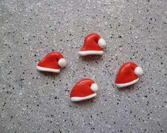 4 cups of Santa Claus for creating cards, greeting cards