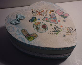 """Romantic trinkets or jewelry box """"patchwork of love"""""""