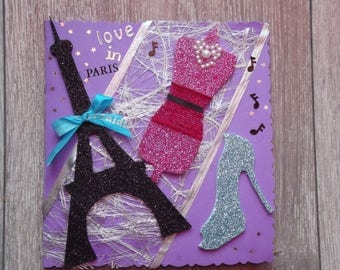 """Card """"love in Paris"""" all occasions"""