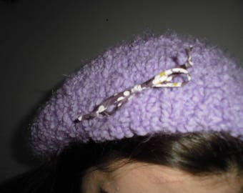 Hat - purple with its matching mittens