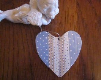 Wooden heart hanging liberty spirit