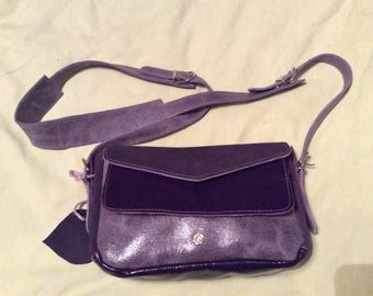 Matching purple leather bag