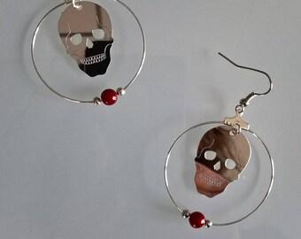 Red Skull earrings