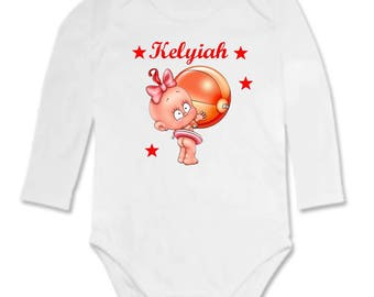 Bodysuit baby girl personalized with name