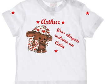 tee shirt baby big grief claimed... personalized with name