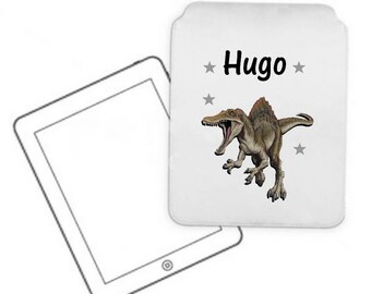 Cover for tablet pc dinosaur personalized with name