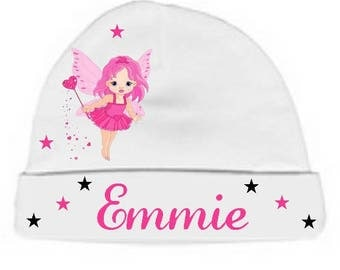 Personalized with name White little Princess baby bonnet