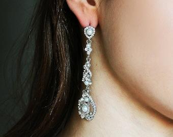 Shiny Chandelier Earrings, Bridal Earrings, Vintage Chandelier Earrings, Wedding Earrings, Bridesmaids gift, New Year gift earrings
