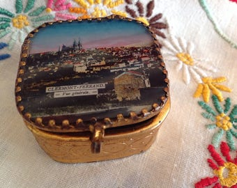 Beautiful jewelry box, souvenir from Clermont Ferrand