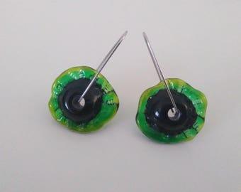 Fleurs en verre filé sur attaches pendantes petite boule
