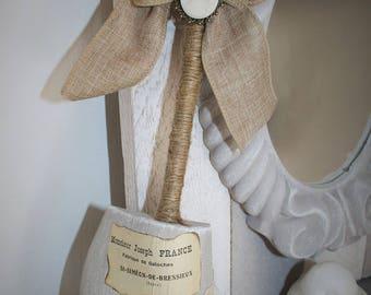 Old wooden antique linen shoe