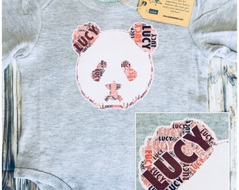 Personalised Tiger Name Kids & Baby  Birthday Gift T-shirt, One-piece, Romper, Bodysuit, Onesie, Custom Made Print