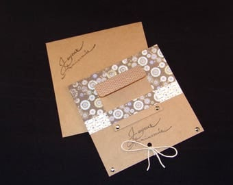 Vintage birthday card and matching envelope