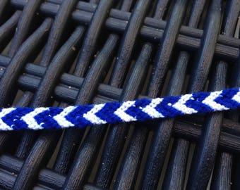 Friendship Bracelet Navy Blue and white
