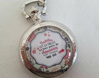 Necklace Pocket Watch cabochon
