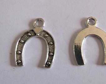 set of 5 Silver 23mmx18mm Horseshoe charms