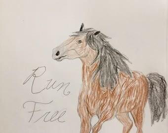 Rocky Mountain Horse (print)