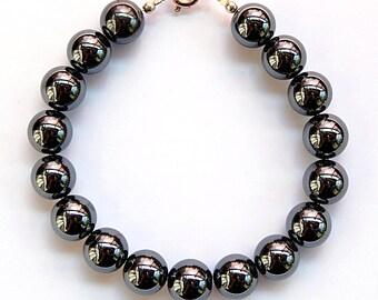 Bracelet hematite beads 8mm