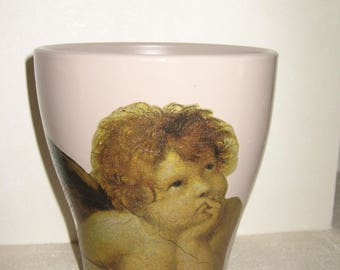 Free shipping! Brown Angel flower pot