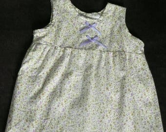 Purple liberty gathered dress and bows