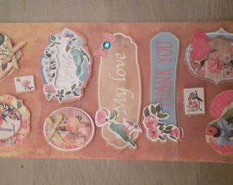 3D cardmaking scrapbooking stickers stickers