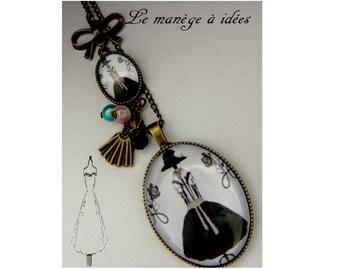 """Necklace / pendant / necklace """"LA MODE"""" bronze metal."""
