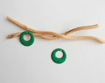 2 X 17 mm Green round sequins