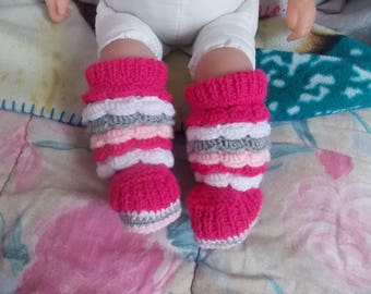 set of 2 pairs of booties