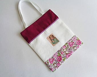 "Small cotton bag for ""picking"" the Easter eggs, no. 3"