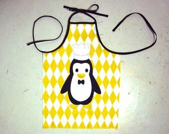 Child apron in cotton - Penguin