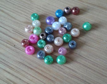 set of 10 beads Pearl mix