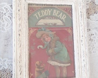 "small ""teddy bear"" frame, weathered old"