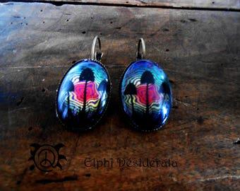 """""""Mushroom psyche"""" earrings cabochon"""