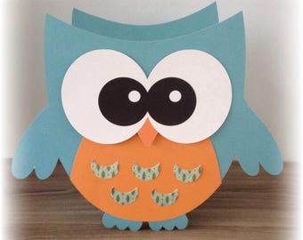 OWL table basket candy box